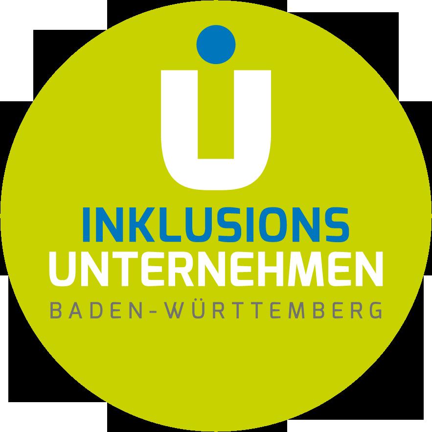 """Buchstaben """"IU"""" im Logo der Integrationsunternehmen Baden Württemberg"""